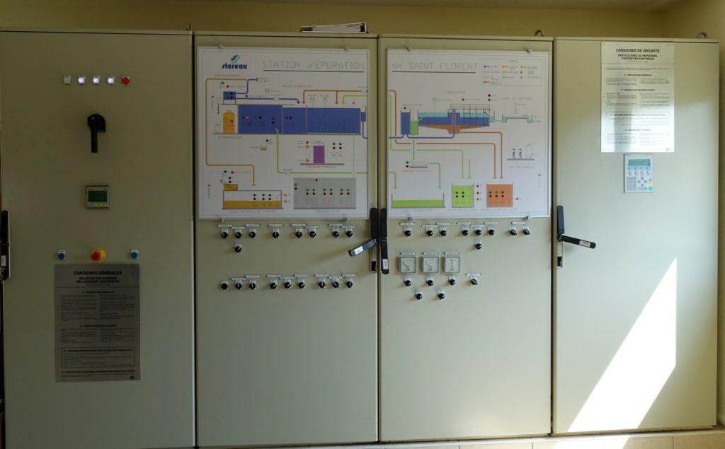 Tableau de bord permettant la surveillance et le fonctionnement de la station